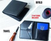 Wallet pattern pdf / Travel wallet pattern / Leather Bifold wallet pattern / Mens bifold wallet pattern / Leather wallet pattern pdf /