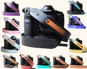 Unique gifts Leather Camera strap. Personalized Camera strap for DSLR. Gift for her Gift for him Gift for women Gift for men