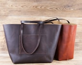 XL Leather tote bag Valentines gift Custom tote bag Shopper bag Leather bag Leather tote bags for women Large leather tote bag Brown leather