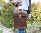 Graduation gift iPad bag Messenger bag Leather messenger bag iPad case
