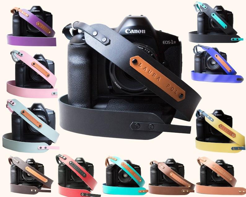 Personalized Camera strap Leather Camera strap for DSLR image 0