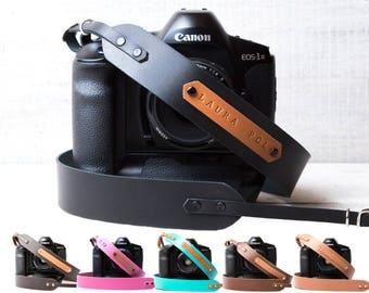 Personalized Camera strap leather Camera strap monogram Camera strap DSLR camera strap