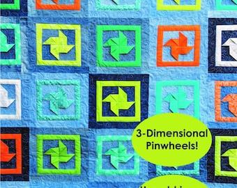 PDF Downlaod- (Dizzy Denim) Quilt Pattern using Recycled Jeans