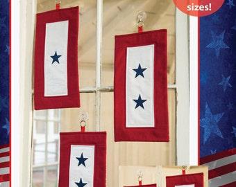 PDF DOWNLOAD- Service Quilt (Blue Star/Gold Star Banner) Pattern