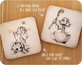 A beautiful but terrifying set of coasters...