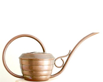 French copper watering can by GAOR Villedieu France, 1960s vintage / plant, cactus, boho chic, bohemian, folk, france, rustic country french
