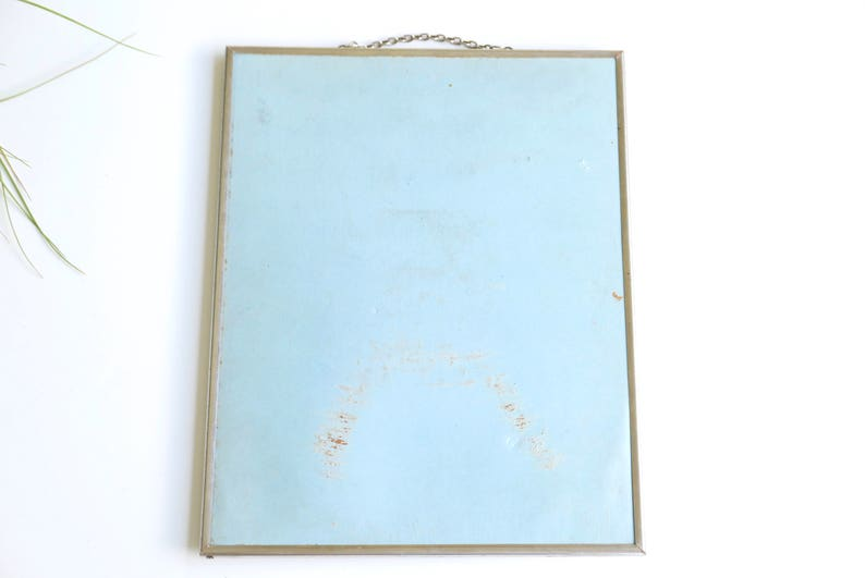 Vintage Badkamer Spiegel : Wand spiegel met ketting 50s 1950 vintage barber badkamer etsy
