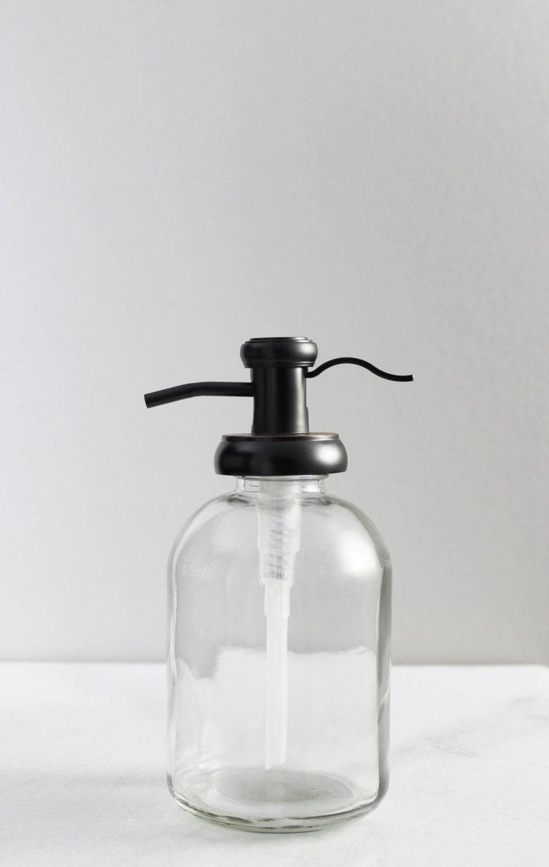 d788b157a02 Soap Dispenser Bell Glass Soap Dispenser with Antique Bronze