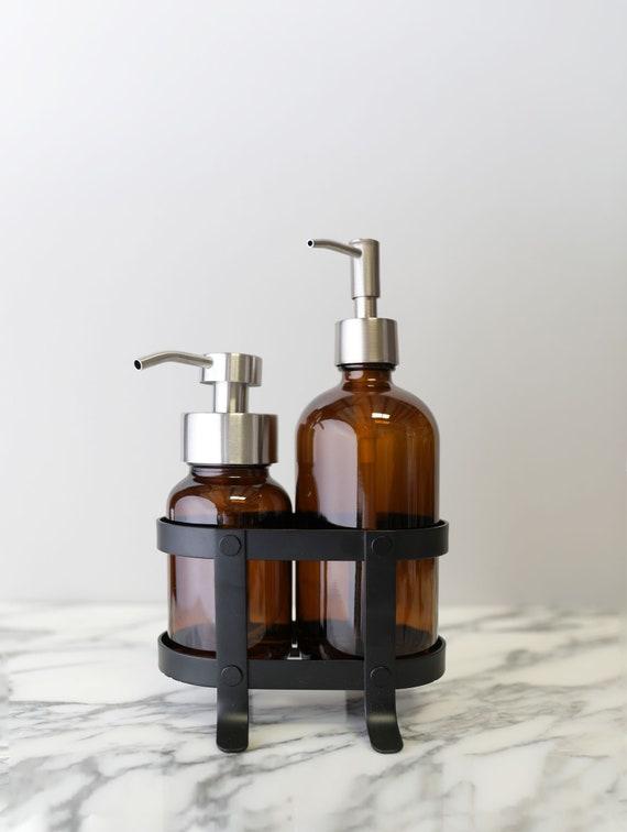 Rail19 Clear Dish Soap Dispenser Set Laurel Hands Dishes Soap Hand Soap Dispenser Set Perfect for The Kitchen Sink