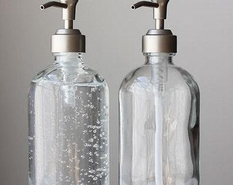 Market Glass Soap Dispensers - Pair