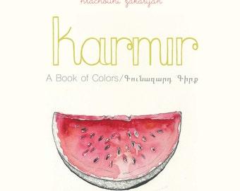 Armenian Children's Book, Karmir A Book of Colors, toddler book, bilingual book, toddler book, armenian book, children's learning, gift