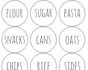 12 Organizing Pantry Labels, Bin Storage, Kids Storage, Bin Labels, Clothes  Labels, Packaging, Box Labels, Organizing, Flour Labels, Tags