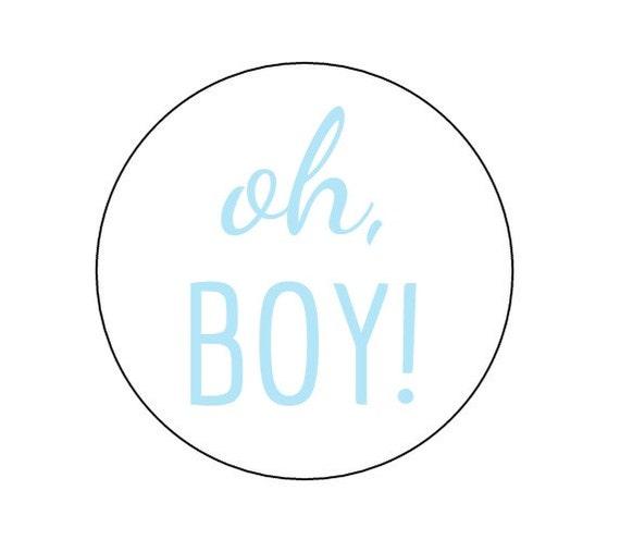 20 Oh Boy Stickers Baby Shower It's A Boy Boy Theme Oh