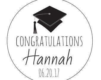 12 Congratulations Grad Stickers, Class of 2016, Cookie Stickers, Personalized Stickers, Thank You Stickers, Graduation Theme, Grad Party