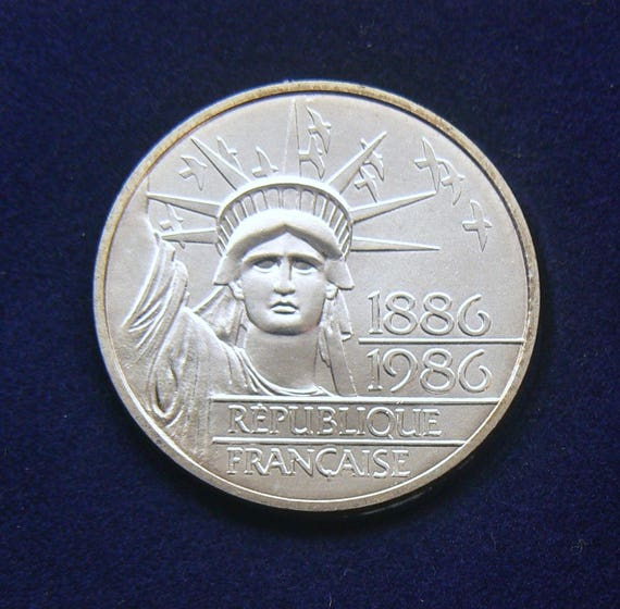 1986 Französisch Liberte Münze 999 Silber Piefort Frankreich Liberte 100 Franken Münze Mit Zertifikat