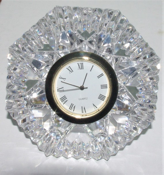 Waterford Diamond Shaped Clock Beautiful Hand Cut Crystal Etsy