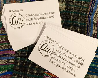 ABC Bible verse cards (version 1)