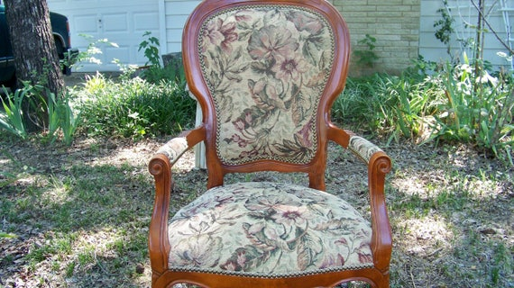 image 0 - Antique Ladies Upholstered Parlor Chair / Arm Chair / Fireside Etsy