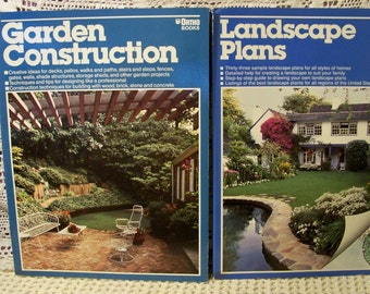 Pair Of Ortho Books - Garden Construction And Landscape Plans
