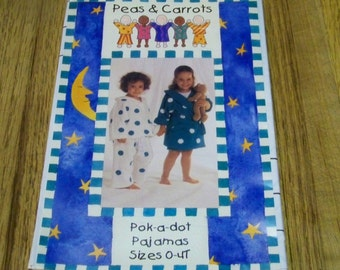 Peas & Carrots - Pok-A-Dot Pajamas - Size 0 - 4T