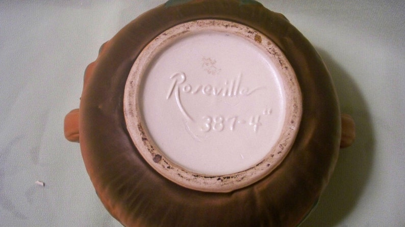 Art Pottery Planter Stamped Roseville 387-4/'/'