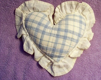 Small Quilted Heart Shaped Pillow - Cecelia-Marie 244