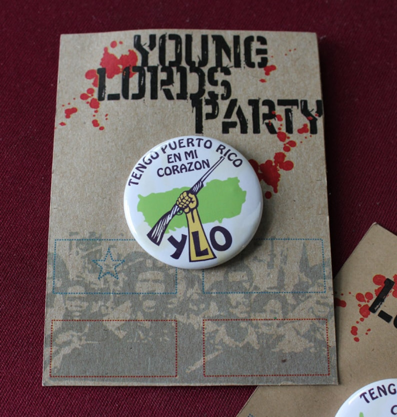 Revolution NYC Young Lords Party 1.25 Replica Pin / image 0