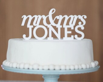 Wedding Cake Topper, cake topper, name cake topper, Personalised wedding cake topper, Mr and Mrs, custom cake topper, monogram cake toppers