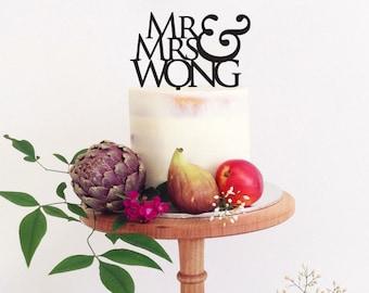 Mr&Mrs, wedding cake topper,rustic wedding cake topper,personalised cake topper,monogram cake topper,bride and groom name design cake