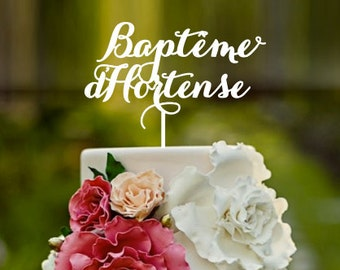 Christening cake topper, baptism, cross, cake topper, baptism cake, Baptême cake topper, baby's christening, baby's baptism