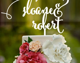 Names with aeroplane, Custom Cake Topper, Engagement cake, Wedding Cake Topper, cake topper, name cake topper, Mr and Mrs, love cake topper