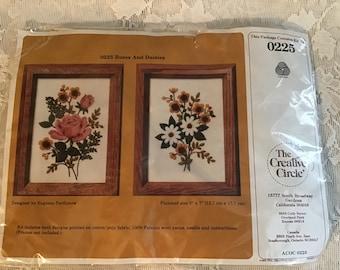 children/'s bath Creative Circle Crewel Embroidery KIT Vintage