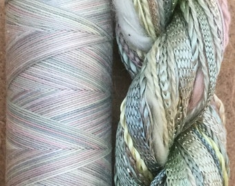 Hand Dyed Embroidery Threads, Two of a Kind No.22 Silver Birch, Creative Embellishment Threads, Hand Dyed Machine Cotton, Quilting Thread