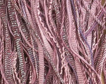 Dusky Rose, One Off Special, Limited Edition, Hand Dyed Embroidery Thread, Textured Threads, Variegated Threads