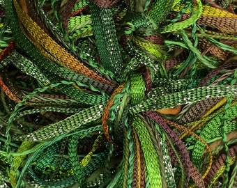 Hand Dyed Embroidery Thread, Greensleeves, One Off Special, Limited Edition, Textured Threads, Variegated Threads