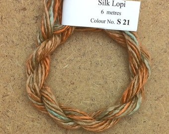 Silk Lopi, No.21 Rust, Embroidery Thread, Hand Dyed Embroidery Thread, Artisan Thread, Textile Art