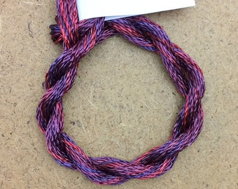 Hand Dyed 3600/2 Viscose Cord, Colour No.49 Burgundy, Rayon II, Embroidery, Thread, Needlepoint