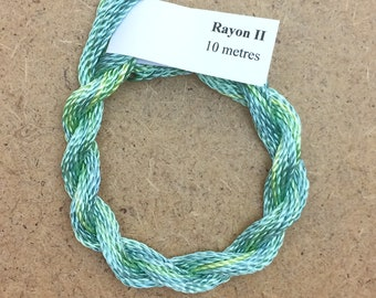 Hand Dyed 3600/2 Viscose Cord, Colour No.33 Aquamarine, Rayon II, Embroidery, Thread, Needlepoint