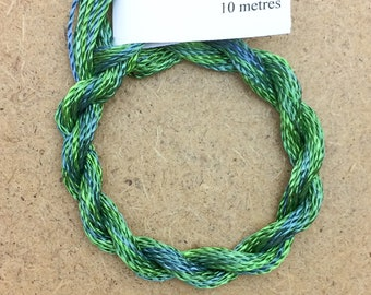 Hand Dyed 3600/2 Viscose Cord, Colour No.20 Jade, Rayon II, Embroidery, Thread, Needlepoint