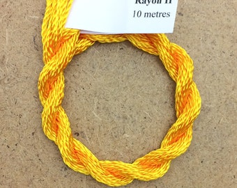 Hand Dyed 3600/2 Viscose Cord, Colour No.51 Daffodil, Rayon II, Embroidery, Thread, Needlepoint