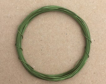 Coloured Copper Wire, Green, 0.5mm, 24 Gauge, 4m (4.3 yards) Metalwork,  Mixed Media, Jewellery making