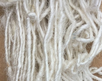 Sari Silk Yarn, Silk Fibre Yarn, Artisan Yarn, Exotic Yarn, Colour - Neutral