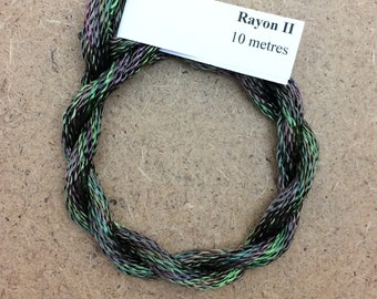 Hand Dyed 3600/2 Viscose Cord, Colour No.54 Moss, Rayon II, Embroidery, Thread, Needlepoint