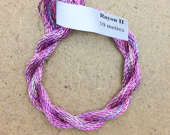 Hand Dyed 3600/2 Viscose Cord, Colour No.30 Light Candy Floss, Rayon II, Embroidery, Thread, Needlepoint