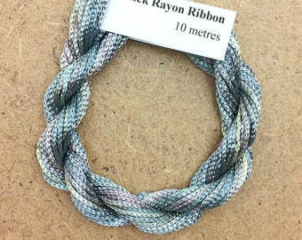 Thick Viscose Ribbon 3/660, Colour No.22 Silver Birch, Hand Dyed Embroidery Thread, Canvaswork, Needlepoint