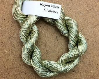 Rayon Floss, Hand Dyed 4 Strand Viscose Floss, Colour No.22 Silver Birch, Hand Dyed Viscose Floss, Embroidery Thread, Braidmaking, Kumihimo