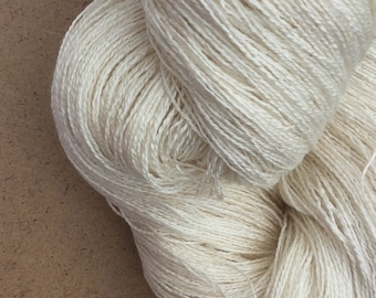 MEDIUM COTTON, 200g (7 ounces) for dyeing, Embroidery Thread, 6/2  weight (approx. equivalent to Perle 8)