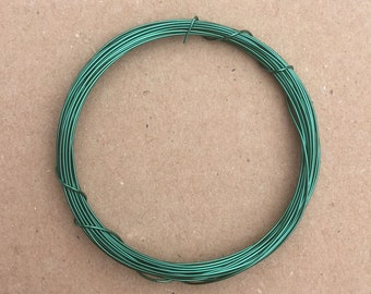 Coloured Copper Wire, Emerald, 0.5mm, 24 Gauge, 4m (4.3 yards) Metalwork,  Mixed Media, Jewellery making, Turquoise