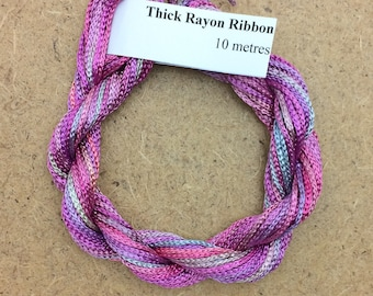 Thick Viscose Ribbon 3/660, Colour No.29 Stocks, Hand Dyed Embroidery Thread, Canvaswork, Needlepoint