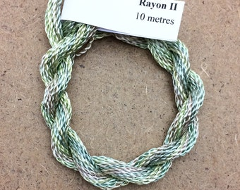 Hand Dyed 3600/2 Viscose Cord, Colour No.22 Silver Birch, Rayon II, Embroidery, Thread, Needlepoint